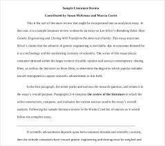 9 Literature Review Outline Templates Samples Free