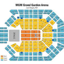 mgm seating chart mgm grand garden arena seating chart