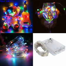 Fairy Lights Battery Operated Canada Details About Waterproof Rgb Flash Led String Copper Wire Fairy Lights Battery Powered Lamp Rk
