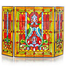 Stained Glass Fireplace Screens & Doors | eBay