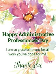 Administative Day I Am So Grateful Happy Administrative Professionals Day Card