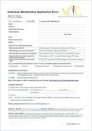 Club Membership Form Template Church Member Application Template Membership Form Social Club Free