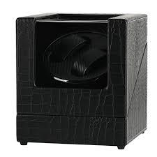 Black Automatic <b>Watch Winder US</b>/UK/<b>AU</b>/<b>EU Plug Adapter</b> ...