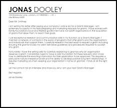 Sample Cover Letter For Client Relationship Manager Grants Manager Cover Letter Sample Cover Letter Templates