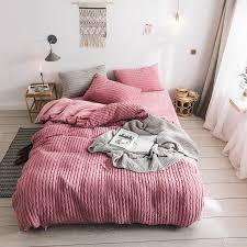 hot decbest 4pcs chenille cryatal velvet bedding set queen king size quilt duvet cover bed sheet pillowcase newchic