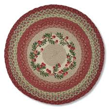cranberry jute braided rug