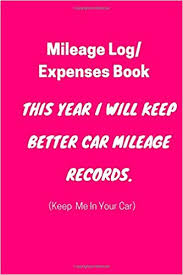 Mileage Records Mileage Log Expenses Book This Year I Will Keep Better Car Mileage