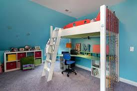 beds with desks underneath them. Plain With Loft Bed With Desk Underneath Kids Contemporary Aqua Blue Bead Curtain  Double Bunk Beds Desks For Them