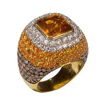 large vine topaz and diamond ring vine and antique jewelry at brian stewart