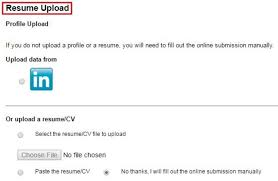 upload resume online