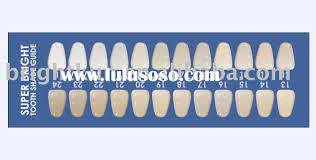 Teeth Whitening Shade Guide Teeth Whitening Shade Guide