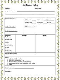 notes form parent teacher conference notes form by jennifer k tpt