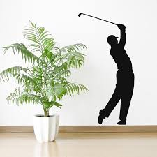 on golf wall art uk with tiger woods wall sticker golf wall decal sports bedroom home decor