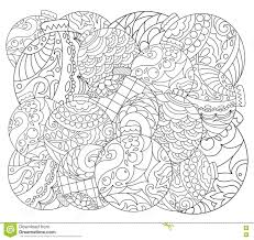 Small Picture Christmas Tree Ornament Adult Coloring Page Vector Coloring Page