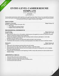cashier resume template entry level example of cashier resume