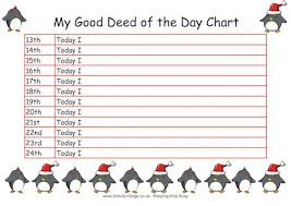 Good Deed Chart Free Advent Good Deed Chart Keep Track Of Positive Behaviors