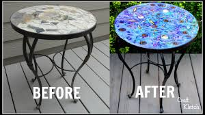 glam resin table makeover garbage to gorgeous episode 17 craft klatch diy