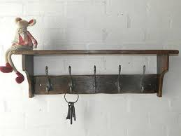 Cottage Coat Rack Reclaimed Wood Hat Coat Rack With Shelf Cottage Country Style With 17