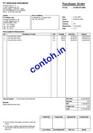 contoh purchase order word contoh contoh formulir purchase order po