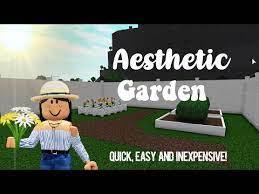 aesthetic garden bloxburg quick