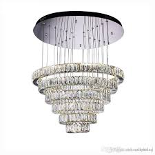 luxury contemporary crystal pendant lights k9 crystal chandeliers lighting with 6 8 crystal circulars d23 6 h74 6 multi pendant lights brass pendant