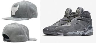 jordan 8 cool grey. air jordan 8 \u201ccool grey\u201d x new era chicago bulls grey suede snapback cap cool l