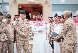 الحرس الوطني - الامير عبدالله بن بندر يزور قاعدة الامداد و التموين و قرية  التدريب الامنية