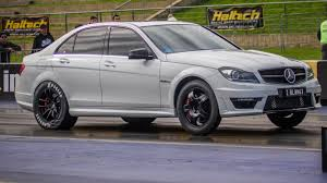 2012 Mercedes-Benz C63 AMG Weistec stage 3 1/4 mile Drag Racing ...