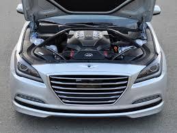 2015 hyundai genesis. the optional 50liter v8 engine delivers 420horsepower to rear 2015 hyundai genesis