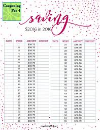Save Money In A Year Chart Couponing For 4 Saving 2016 In 2016 Plan And Chart
