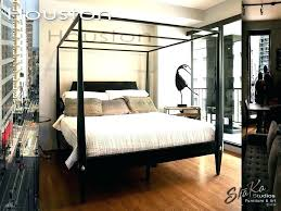 King Canopy Bed Frame Diy Size 4 Poster Black Four Post F Pencil ...