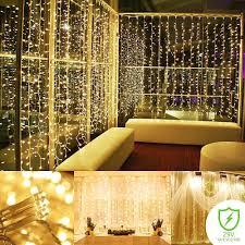 Curtain String Led Lights Zimtown 300 Led Patio Curtain String Lights 9 8ft X 9 8ft