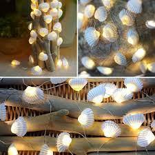 beach nautical string lights to set a