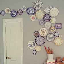 diy hanging plate wall designs with