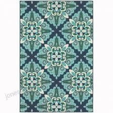 archer lane edgewater blue indoor outdoor area rug common 7 x 10