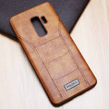 high premium quality samsung galaxy s9 plus leather back cover case