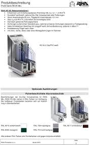 Produktbeschreibung Profil Serie Riha Pdf