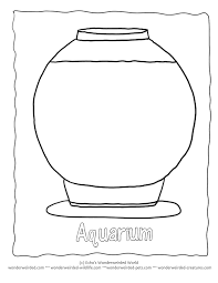 Small Picture Outline Aquarium Coloring Pages Template 1 Fish Bowl Here a setup