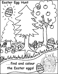 Easter Egg Hunt Free Coloring Pages For Kids Printable Colouring