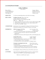 Example Of Resume Accounting Sample Resume Accounting Nice Design Accounting Resume Sample 10