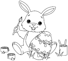 Free Printable Easter Bunny Coloring Pages Happy Easter