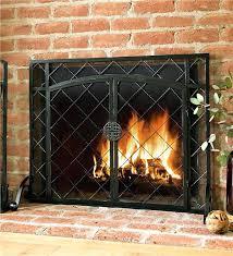 small fireplace door medium size of natural brown metal fireplace screens along