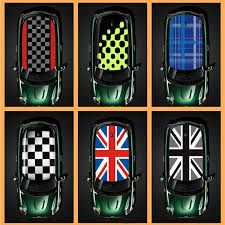 <b>1pcs Union Jack Car</b> KK Full Roof Sticker Auto Roof Trim Decals ...