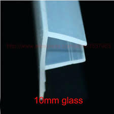inspiring shower door glass seal 3 meters f shape silicone rubber shower door glass seal strip