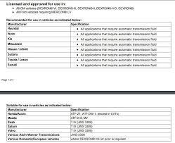 Dexron Vi Compatibility Chart Maxlife Atf For Toyota Ws Bob Is The Oil Guy
