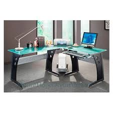 home office gaming computer. Glass Top Computer Desk Modern Graphite Corner Gaming Home Office .