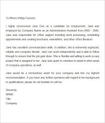 7 Recommendation Letters For Employment Download Free