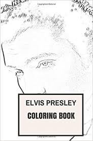 elvis coloring pictures. Fine Pictures Elvis Presley Inspired Coloring Book Classic Rock And Roll THE KING  Adult Book Coloring For Adults Joseph Presley  For Pictures L