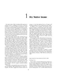 Cattle Implant Comparison Chart 1 Dry Matter Intake Nutrient Requirements Of Dairy Cattle