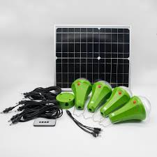 Small Solar Panels For Lights Hot Item 20w Multi Functional Fold Able Small Solar Panel Green Lighting Kit 4 Solar Bulb Lighting System For Home Indoor Camping